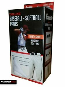 Franklin Deluxe Kids Baseball Softball Pants White Youth Size Small Medium NEW