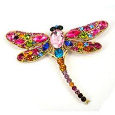 Brooch Rhinestone Pin New Fashion Dragonfly Crystal