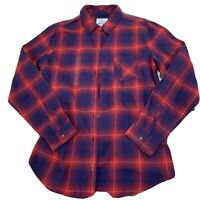 Field And Stream & Womens Flannel Plaid Button Shirt Size Large New NWT G245
