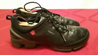 MEN'S ECCO BIOM YAK BLACK  LEATHER COULD BE GOLF SHOES SIZE 8/M