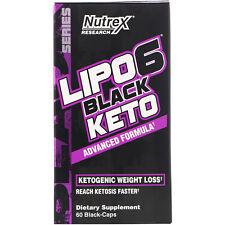 Lipo-6 Black Keto, Advanced Formula, 60 Black-Caps