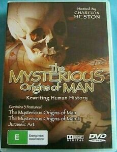 DVD THE MYSTERIOUS ORIGINS OF MAN hosted by Charlton Heston   All Regions PAL