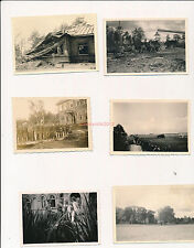 6 x Foto, Kriegsbilder von Arno Wappler, Fpnr. 05807, Ostfront, 04 (W)1718