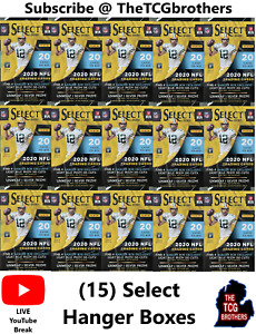 Pittsburgh Steelers Break #322 Select Hanger Box (15 Boxes) Silver Prizm