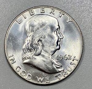 1962-D Franklin 50c Silver Half Dollar