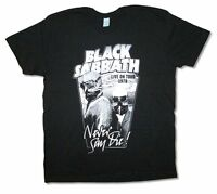 Black Sabbath Never Say Die 1978 Tour Reissue Black T Shirt New Official