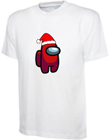 Adult Kids CHRISTMAS Among Us T-shirt Impostor Crewmate Gaming Tee Xmas Funny
