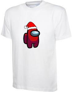 Adult Kids CHRISTMAS Among Us T-shirt Impostor Crewmate Gaming Tee Xmas Funny