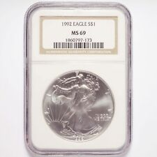 1992 Silver American Eagle Dollar NGC MS69