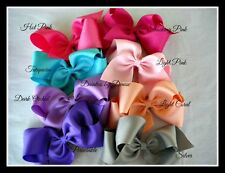 """5 Extra Large Boutique 6 """"Wide Bows You pick your fav colors,great birthday gift"""