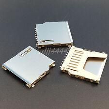 10Pcs High Quality SD Memory Card Solder Socket Connectors Long Body