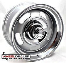 "(1) 17x7"" ALUMINUM GRAY REV CLASSIC 107 RALLY WHEEL CHEVY 5-LUG CLASSIC CAR"