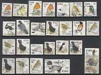 Ireland #1036//1343 Birds pre-Euro currency 1997-2001 25 diff used stamps cv $77