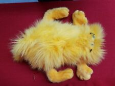 "Vintage ""Garfield the Cat"" Blow Dry Long Hair Fuzzy Stuffed Animal"
