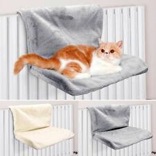 Comfy Fleece Cat Radiator Bed Kitten Hanging Basket Hammock Seat Shelf Foldable