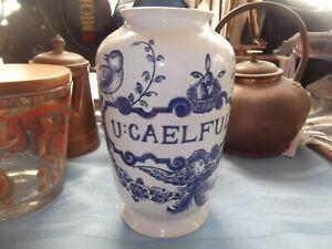1989 Lilly Ceramic Diascord Flower Vase Made In Portugal - Blue & White - NOS