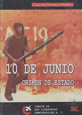 DVD - 10 De Junio NEW Crimen De Estado FAST SHIPPING !