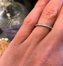 925 Sterling Silver Stackable Wedding/Anniversary Band with CZ - 20%  to Charity