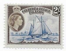 Gilbert & Ellice Islands 1956 QEII 2sh mint boat