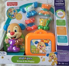 FISHER PRICE LAUGH & LEARN DRESS AND GO PUPPY ~ NEW IN BOX