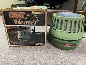 Vintage Coleman Deluxe Catalytic Heater Model 515A708 5000-8000 BTU Dated 12/78