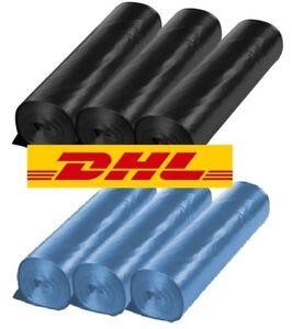 120L Müllsäcke Blau, Schwarz, Transparent Abfallbeutel Mülltüten Typ-60 Typ-100