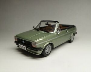 SOLIDO 1854 1:43, 1981 LEFT-HAND-DRIVE FORD FIESTA GHIA CODE 3 CRAYFORD IN GREEN
