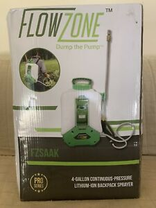 FLOWZONE FZSAAK Backpack Sprayer PRO SERIES ,Polyethylene Tank 4 GALLON