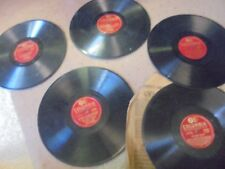 Vintage Lot of Five Columbia 78 RPM Records 10 inch records