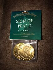 Nip Nos Roman Inc Sign of Peace Pass It On Coin Set Of 2