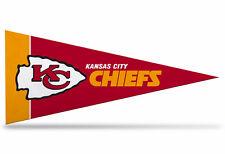 "New NFL Kansas City Chiefs Mini Pennant  9""x4"" (22 x 9 1/2cm)Made in USA  Banner"