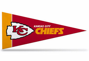 "New NFL Kansas City Chiefs Mini Pennant  9""x4"" Felt, Made in USA"