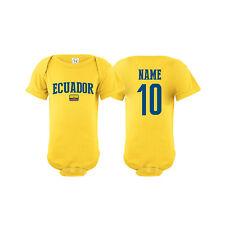 Ecuador Soccer Baby Outfit Mameluco Infant Girls Boys Bodysuit T-shirt Romper