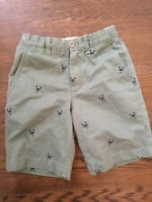 Crewcuts Boys Green Embroidered Lobster Chino Shorts 8 Adjustable Waist