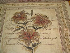 Large LIly Chenille Cushion Cover - 57x57cm
