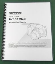 Olympus SP-610UZ Instruction Manual with Protective Covers!