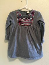 56dcb960a287 Tucker and Tate Nordstorms Size 18M Long Sleeve Blue Gray Embroidered Neck  Dress