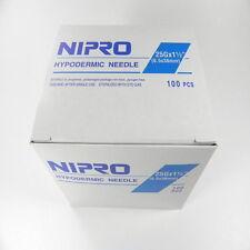 "Nipro 25G x 1 1/2 "" Hypodermic Needle(0.5x38mm) Sterile Single Needle 100 /Box"