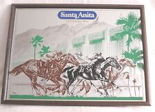 Vintage SANTA ANITA Horse Racing Wall Advertising MIRROR The Great Race Place