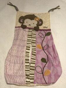 COCALO Baby Diaper Holder Stacker Jungle Safari Monkey Brown Lilac Cream Nursery