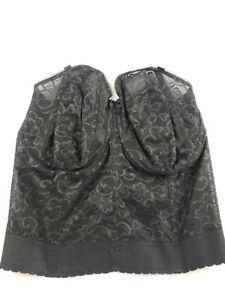 NEW Goddess Women's Black Lace Bustier Bra GD0689 Black Size 36FF MSRP $69