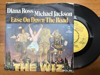 """Diana Ross & Michael Jackson: Ease On Down The road: The Wiz Very Rare 7"""" Single"""