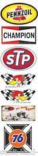 436 Set STP Adesivo Benzina Pennzoil Champion Auto d'epoca auto d'epoca 76