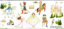 Waverly Classics Kids Self Adhesive Girl Princess Castle Prince Appliques Decals