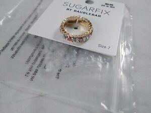 NEW Sugarfix by Baublebar Ring Sz 7 Fashion Costume Jewelry Pastel iridescent