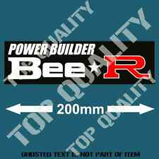 BEE R POWER BUILDER TYPE R MODS Decal Sticker Retro Vintage JDM DRIFT STICKERS
