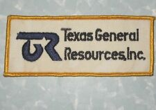 """Texas General Resources, Inc Patch - Houston, Texas - 4 7/8"""" x 2""""  driver patch"""