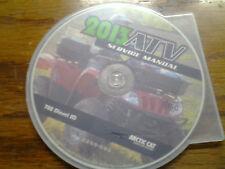 2013 Arctic Cat 700 Diesel SD ATV Service Manual CD (p/n 2259-595)
