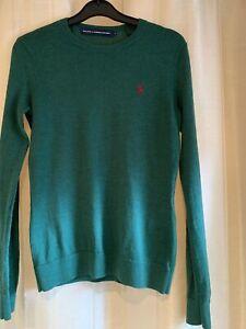 Women's Ralph Lauren Jumper Green Size Small  Excellent Condition Merino Wool
