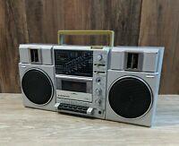 Vintage SANYO Boombox portable radio M9815K Ghetto Blaster *Read*